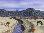 Montaña y rio
